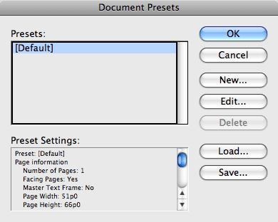 Работа с Document Preset