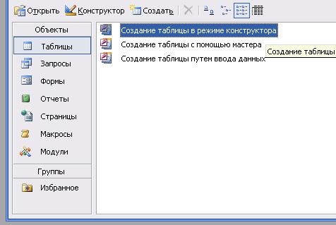 Рис. 2. Главное окно базы данных